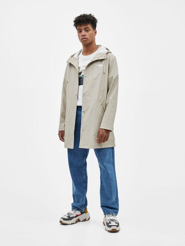 Raincoat with slogan print